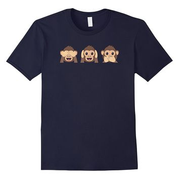 See No Evil Hear No Evil Speak No Evil Monkeys Gift T-Shirt