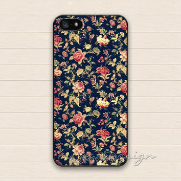Vintage Flower iPhone 5 Case,iPhone 5s Case,iPhone 4 4s Case,Samsung Galaxy S3 S4 Case,Flowers Floral Hard Plastic Rubber Cover Skin Case