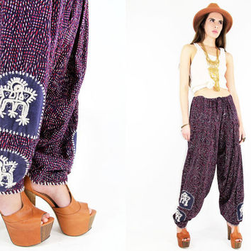 70s BATIK Tribal HAREM Pants - Vintage Clothes by TatiTatiVintage on Etsy