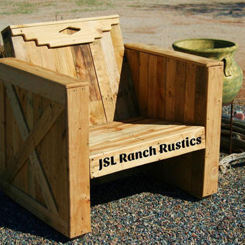 Chair, Wooden chair, Wooden pallet chair, Rustic chair, Southwestern Decor, Cowboy Furniture, Rustic Southwestern Chair, pallet furniture
