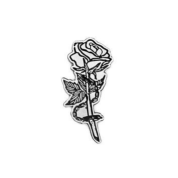 Chained Rose Lapel Pin