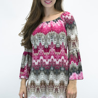 Gracious Love Printed Bell Sleeve Dress