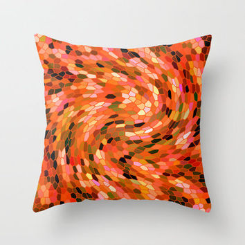 MOSAIC PARTY Throw Pillow by catspaws