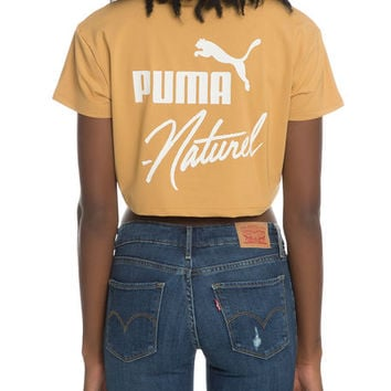 The Puma x Naturel Cropped Tee in Apple Cinnamon