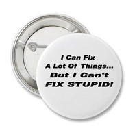 Fix It Button from Zazzle.com