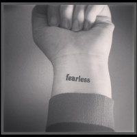 fearless temporary tattoo fake tattoo word tattoo wrist tattoo