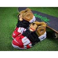 Supreme x Nike Air More Uptempo Tri Retro Baskerball Shoes 902290-002