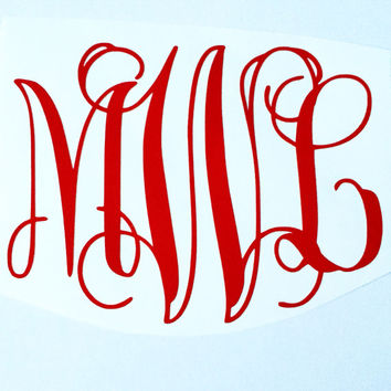 Vinyl Monogram Sticker - Vine Font