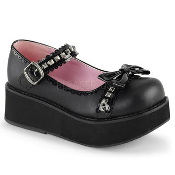 Demonia Scalloped Bow Platforms