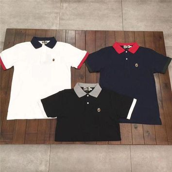 DCKI72 Bape hit the color POLO shirt [103805255692]