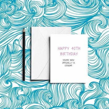 Funny BEST FRIEND 40th Birthday Card - Just Download and Print!