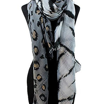 Women's Fashion Accessories. 34x70 Cheetah & Tiger Print Scarf.