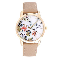 Painted Floral Watch
