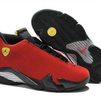 Cheap Air Jordan 14 Retro Men Shoes Red Black
