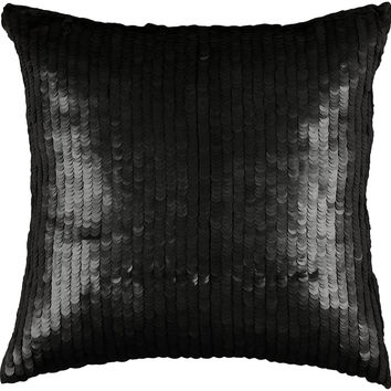 "Sequins Black Pillow Cover (18"" x 18"")"