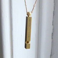 The Conductor's Whistle Necklace  Extra Long by ilgattoselvatico