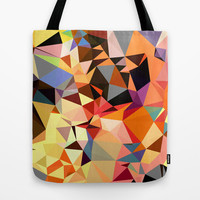 Canvas Tote Bag, Art Tote Bag, Orange Tote Bag, 16 x16 inches