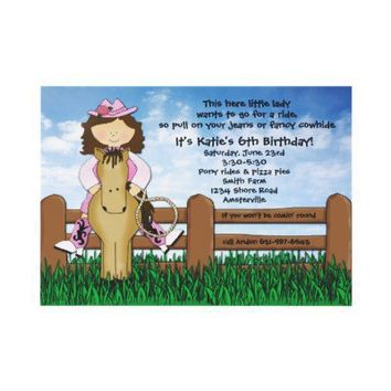 Ride 'em Cowgirl Invitation from Zazzle.com