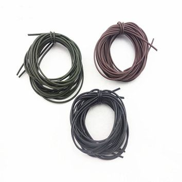 [4m/pack] Carp Fishing  Silicone tubing Black Olive Brown Color Vacuum Tube Pipe Hose