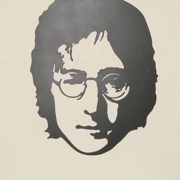John Lennon 22 1/2 Inch Plasma Cut 16 Gauge Metal Wall Art