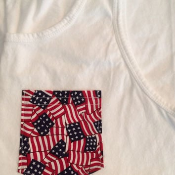 4th of July Pocket T-Shirt, Tank, or V-Neck