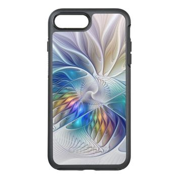 Floral Fantasy, Colorful Abstract Fractal Flower OtterBox Symmetry iPhone 7 Plus Case