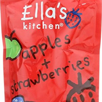 Ella's Kitchen Organic Stage 2, Apples + Strawberries, 3.5 Ounce (Pack of 6)