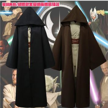 New Arrival Star Wars Jedi Costume Adult Black Cloak Hoodie