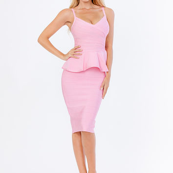 Mermaid Two-Piece Bandage Set - Pink