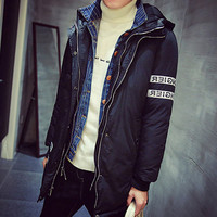Men's Fashion Long Parka Coat