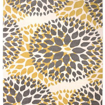 5199 Yellow Medallion Contemporary Area Rugs