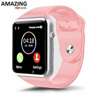 Bluetooth Touch Screen Smart Wrist Watch Phone with Camera (Pink)