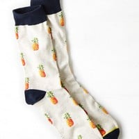 AEO Men's Pineapple Crew Socks (Cream)