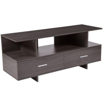 CREYON Fields Wood Grain Finish TV Stand and Media Console