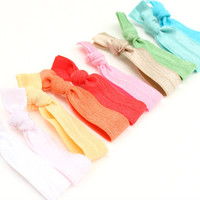 Preppy Pieces Hair Ties - 10 Yoga Bracelet Grab Bag - Elastic Hair Accessories - No Crease Hair Ties - Emi Jay Like Ribbon Hair Ties
