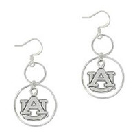 Earrings Dangle Hoops Au Interlock, Silver | Auburn University Bookstore