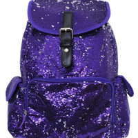 BLING Purple Sequin Backpack FREE Personalziation Dance Bag Cheer Bag Book Bag Overnight School Bag Swim Sports Birthday Flower Girl Youth