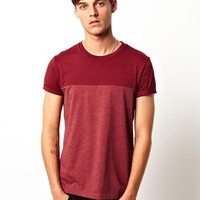 ASOS T-Shirt With Cut And Sew Contrast Yoke at asos.com