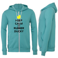 Keep Calm and Rubber Ducky Zipper Hoodie