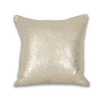 Square Crackle Metallic Pillow