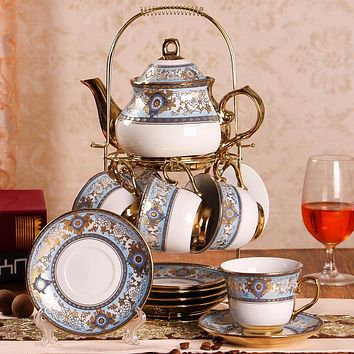 British Afternoon Tea Set 14 Piece with Display