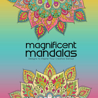 Adult Coloring Book, Printable Coloring Pages, Coloring Pages, Geometric, Coloring Book for Adults, Instant Download MAGNIFICENT MANDALAS