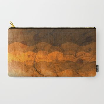 Energy Waves - Sand Version Carry-All Pouch by Adaralbion