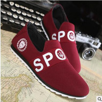 hot sale New Spring and autumn breathable canvas shoes men 2016 Korean tide casual men's shoes With Letter loafers driving shoes