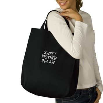 Custom Embroidered Bag, Sweet Mother-In-Law, Quote | Zazzle