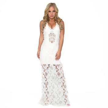 Sakuh Crochet Lace Maxi By SKY
