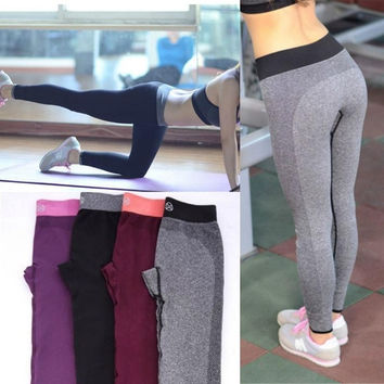 Women'a Casual Work Out Fitness Breathable Gym Yoga Wear Yoga Capris for Women = 5660400513