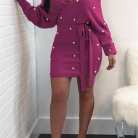 Felicity Off The Shoulder Dress - Pink