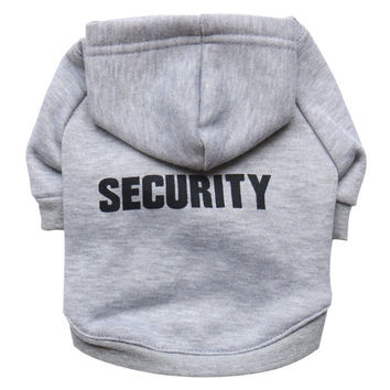 New Security Puppy Vests Coats with Hoodies for Small Dog Chihuahua and Teddy Pet