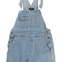 Pale Blue Denim Short Dungarees W32 - Vintage clothing from Rokit -